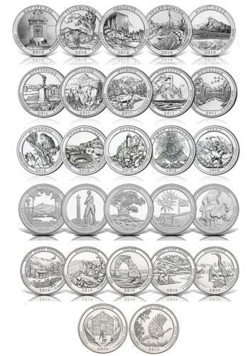 United States America Beautiful Quarters  Cents Coin 27pcs