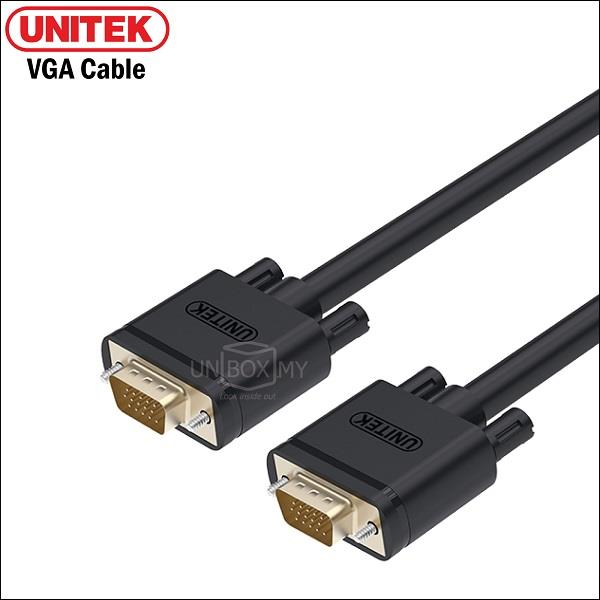 UNITEK 15M VGA (M) to VGA (M) 3C+6 Gold Plated Cable