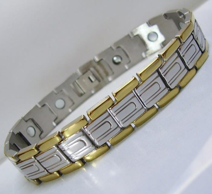 UNITZE GP Stainless Steel Magnetic Bracelet Bio Health Pain Therapy