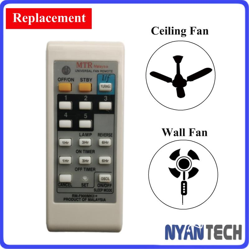 Universal All In 1 Ceiling Fan Remote Control Replacement