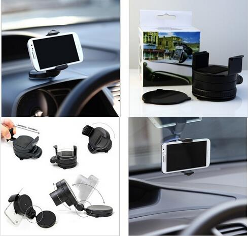 Universal 360 degree car windscreen handphone car holder