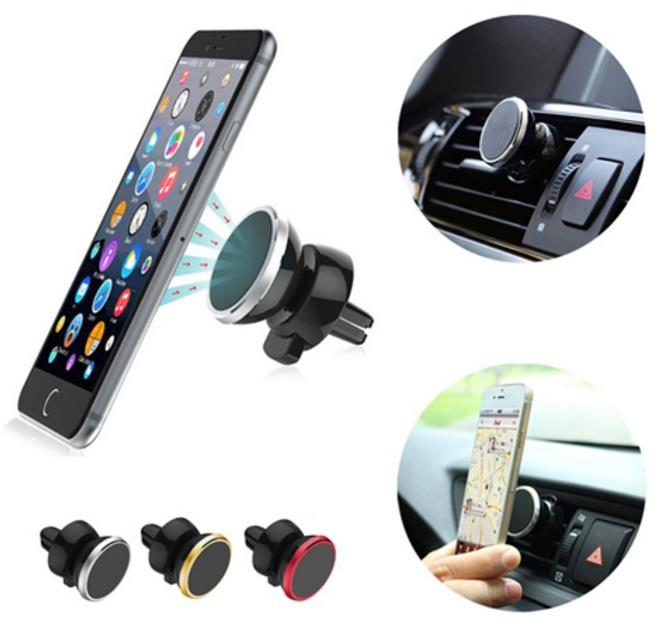 Car Dash Mounting Kits Round car Bracket Magnetic car air Outlet Mobile Phone Holder Magnetic car Navigation Mobile Phone Holder Universal Type