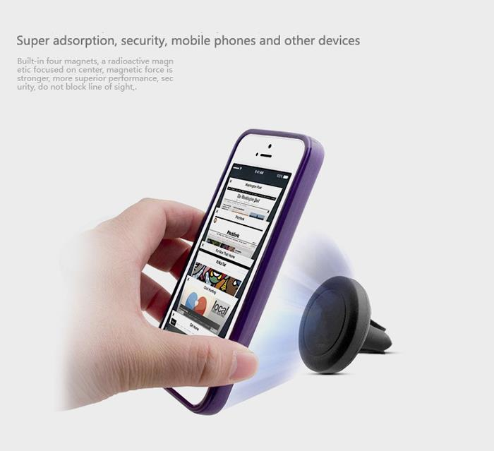 Universal 360 Degrees Car Magnetic Air Vent Mount Holder for Mobile