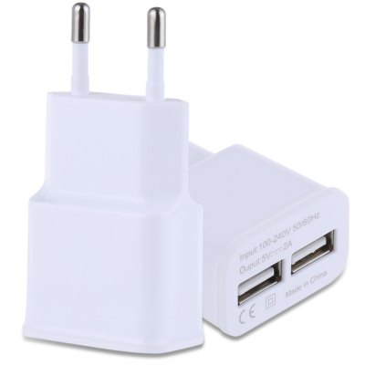 Universal 5V 2A Double USB Ports Multifunctional Quick Travel Adapter