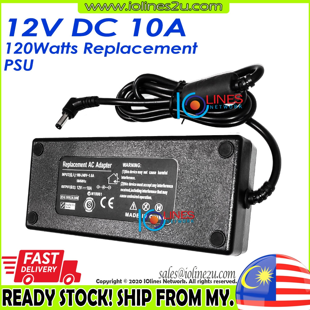 Universal AC to 12V 10A 120W Stable Reliable Switching Power supply adapter CE