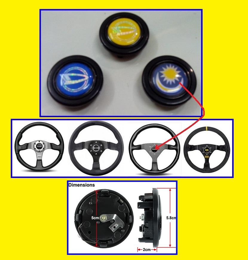 Universal Car Steering Wheel Horn Button kit