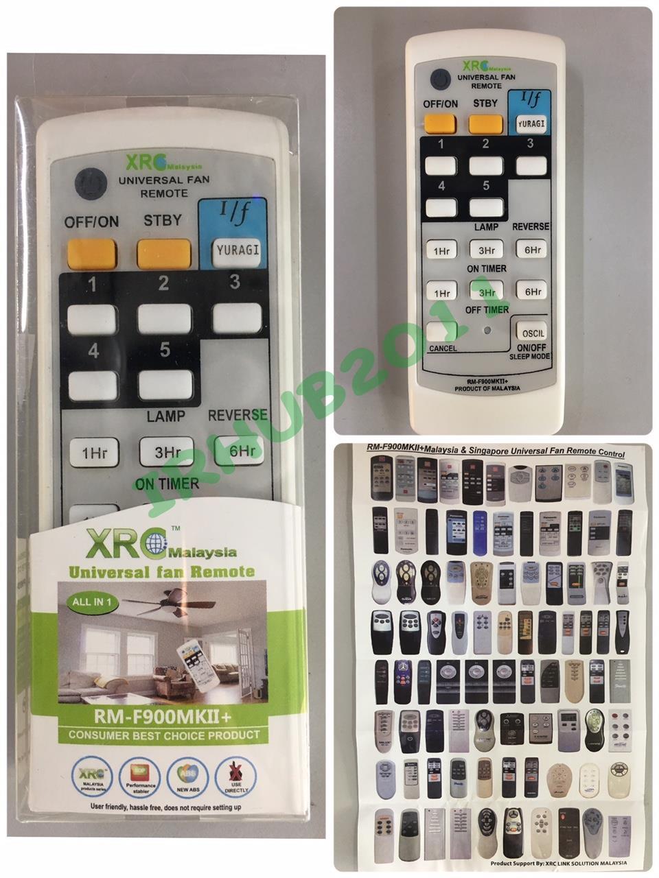Universal Ceiling Wall Fan Remote Control For Deka Elmark Alpha Etc