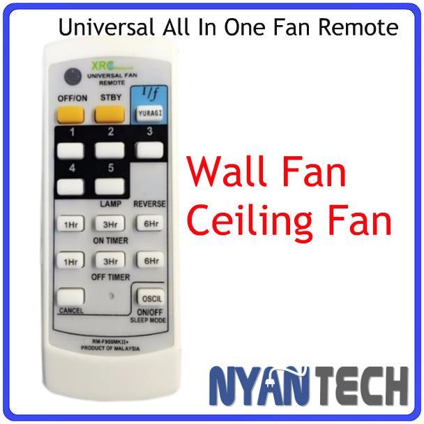 Universal Ceiling Wall Fan Remote Control For Deka Elmark Alpha
