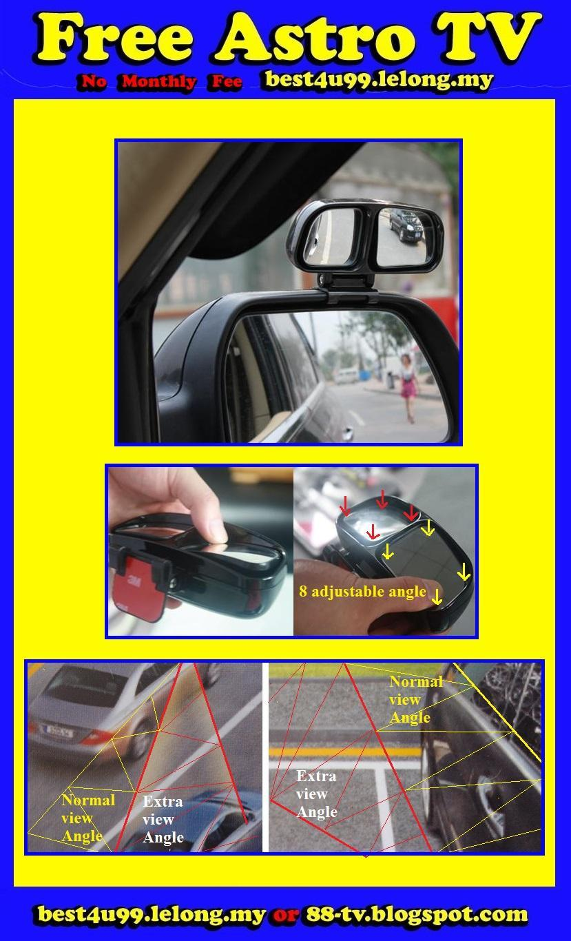 UNIVERSAL Cermin Parking Mirror Convex Blind Spot Rear View Mirror $RM