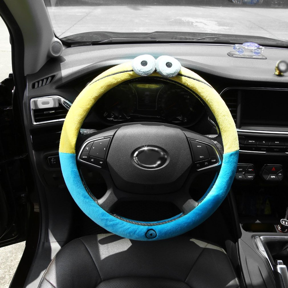 Universal New Cute Cartoon Steering Wheel Cover Car Accessories 16 Sty..