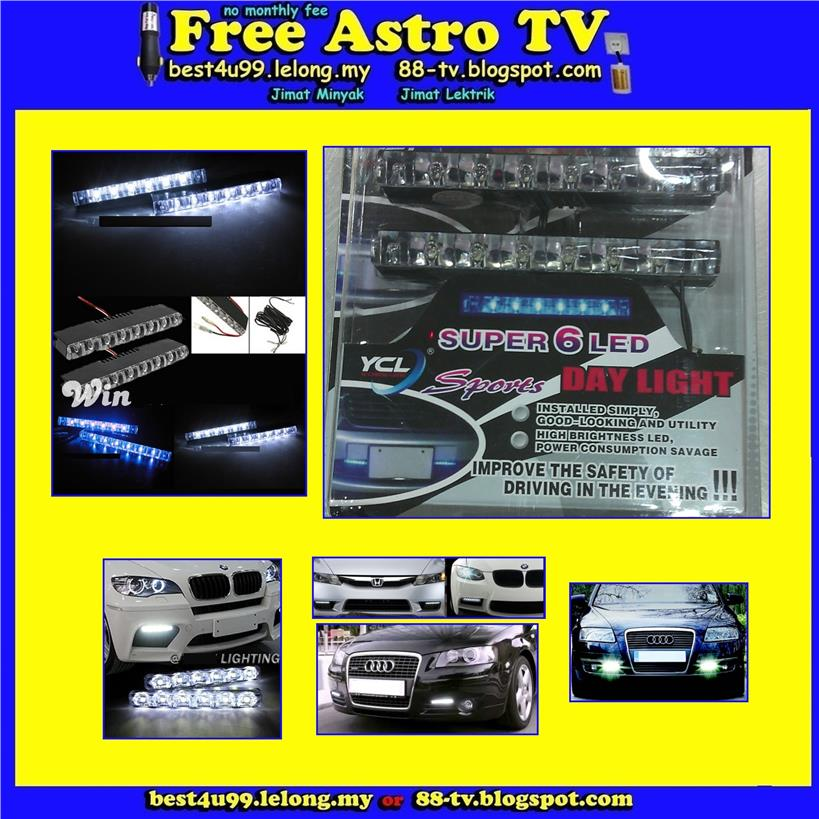 Universal DRL Super Bright Day Running Light LED car van mpv suv lorry