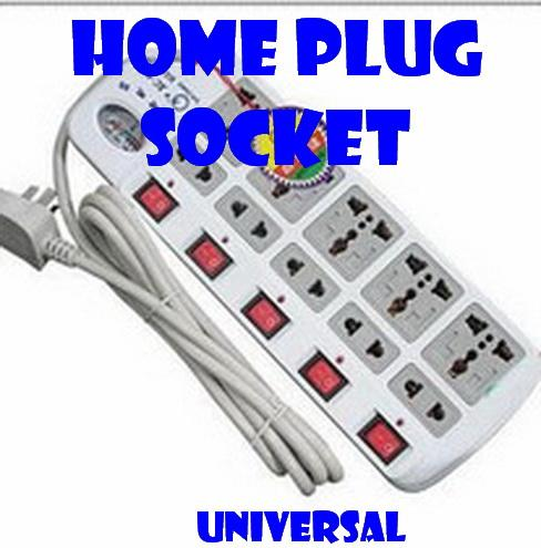 Universal Home Plug Socket TEN Plug Strip Plate With VoltMeter
