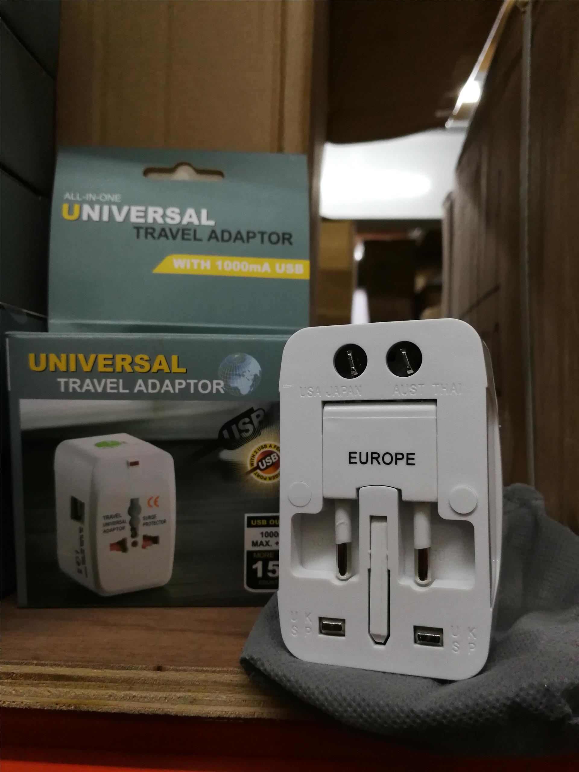 NEW! UNIVERSAL INTERNATIONAL TRAVEL ADAPTOR WITH 2 USB OUTPUT