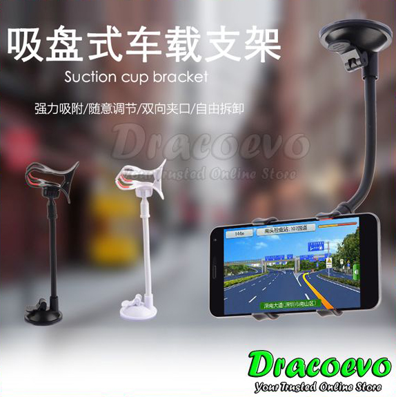 Universal Mobile Phone Car Holder Long Arm Windshield Mount Bracket Suction Cu