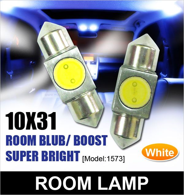 Universal Super Bright Crystal White Room & Trunk Lamp Per Pair [1573]