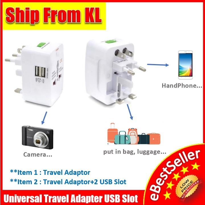 Universal Travel Adapter Plug International Charger adapter USB Port