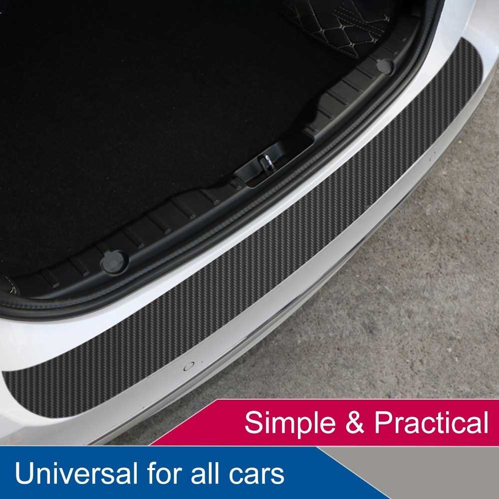 Universal Trunk Rear Guard Plate Sticker Car Rear Bumper Trim