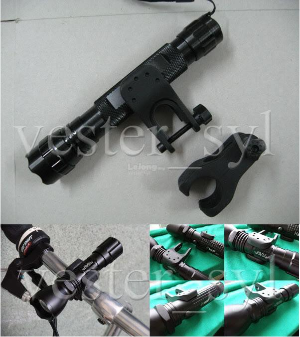 Universal Type Flashlight Bike Mount