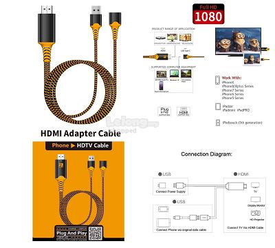 Universal USB HDMI Video TV Cable For MHL iPhone Type C Micro USB