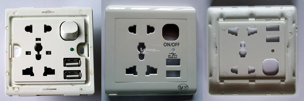 Universal USB Wall Socket Dual USB Electric Wall Charger
