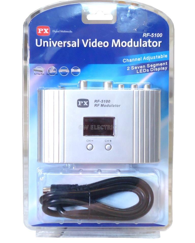 Universal Video Modulator RF 5100 Channel Adjustable