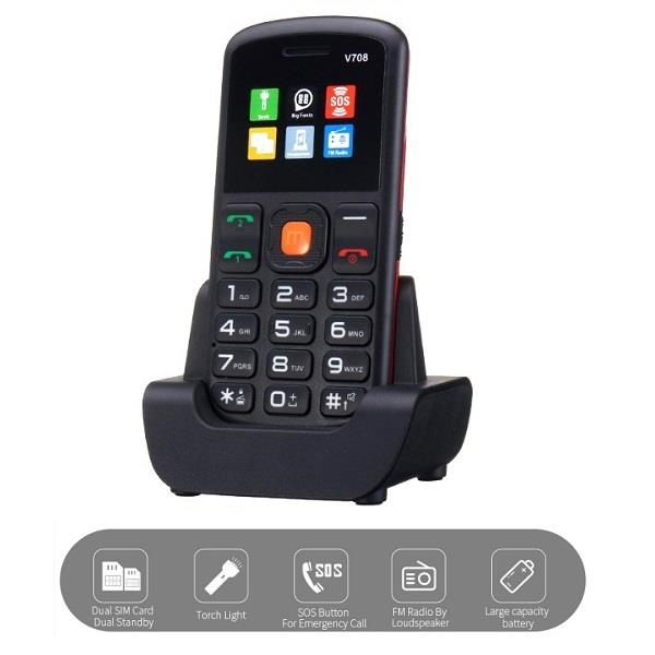 UNIWA V708 Dual sim Mobile Phone With SOS (WP-V708).