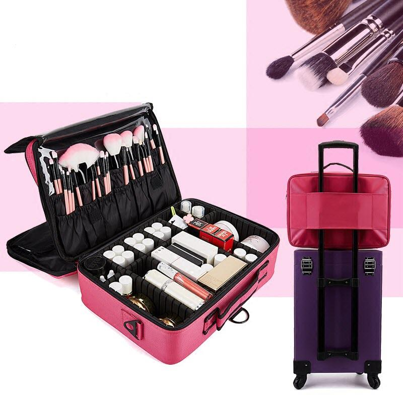 Upgrade Pro Makeup Compartment Bag Travelling Cosmetic