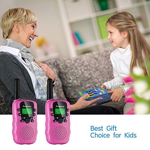 Upgraded Girls Walkie Talkie for Kids 2 Pack, Kids Walkie Talkies Toys for 3-1