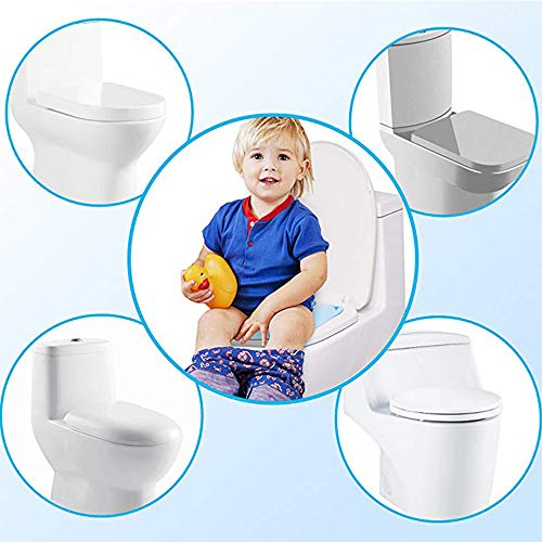 Upgraded Kids Folding Toilet Seat,Large Non Slip Silicone Pads Travel Portab