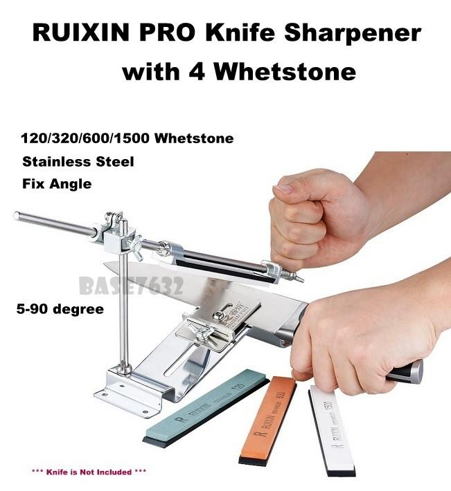 Upgraded RUIXIN  PRO Knife Sharpener Sharpening Fix Angle 4 Whetstone