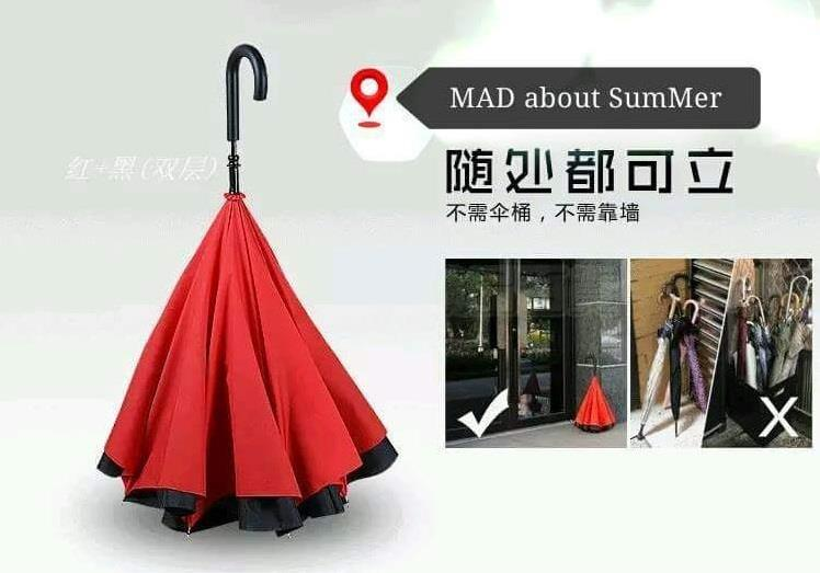 Upside Down Foldable Reverse Umbrella aka Kazbrella