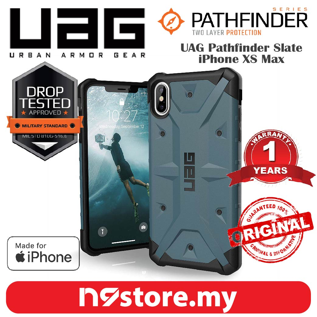 sports shoes 0ab40 ca302 Urban Armor Gear Pathfinder Case For iPhone XS Max - Slate