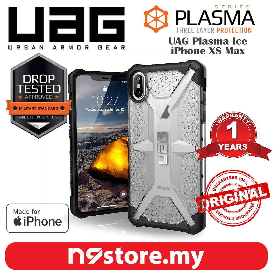 new product e4280 4dacb Urban Armor Gear Plasma Case For iPhone XS Max - Ice