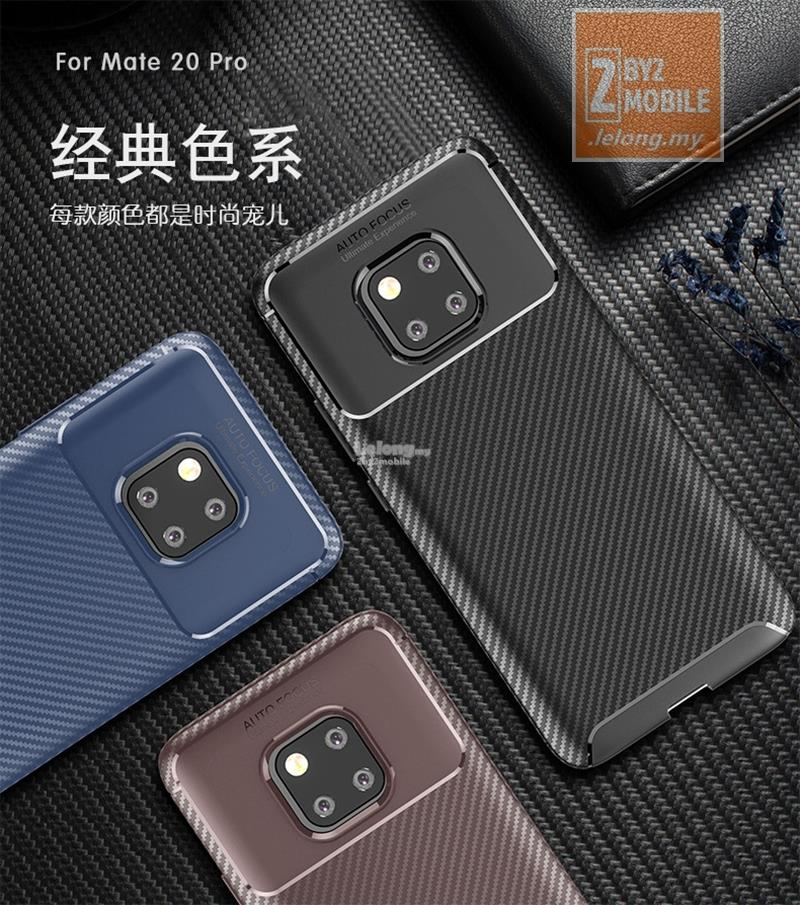 Urban Rugged Armor Carbon Fiber TPU Huawei Mate 20 Pro case