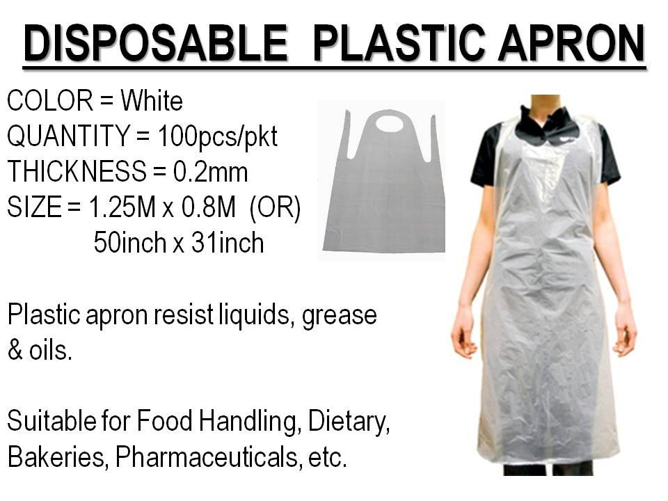 Image result for plastic apron white