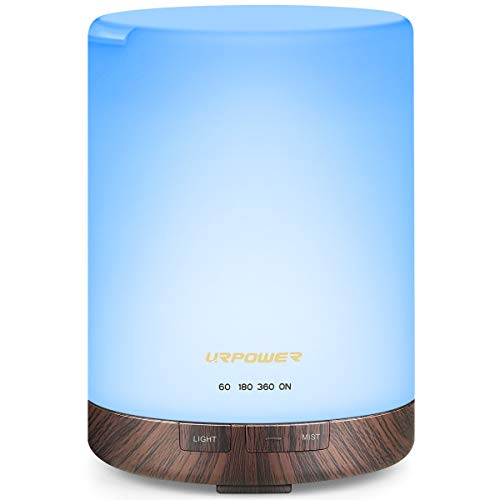 URPOWER 2nd Gen 300ml Aroma Essential Oil Diffuser Night Light Ultrasonic Air