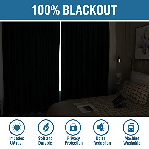 (FROM USA) 100% Blackout Waterproof Curtain for Home Decoration Linen Thermal
