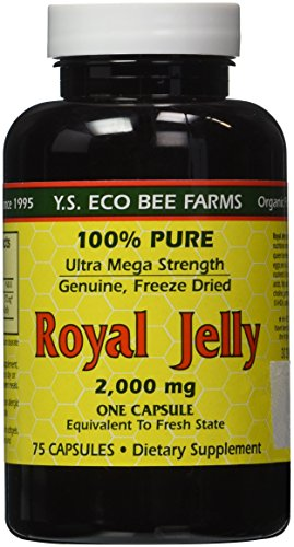 (FROM USA) 100% Pure Freeze Dried Fresh Royal Jelly - 2000 mg YS Eco Bee Farms