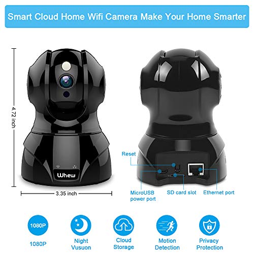 From USA 1080P WiFi Camera Indoor, Whew Wireless Home Security Camera Baby Mon