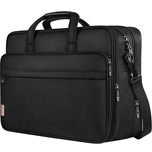 (FROM USA) 18.4 Inch Laptop Bag, Extra Large Briefcase for Men Women, Travel B