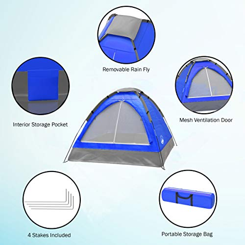 From USA 2-Person Dome Tent- Rain Fly  & Carry Bag- Easy Set Up-Great for Camp