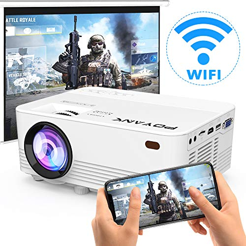 From USA [2020 Upgrade WiFi Projector] POYANK 4500Lux LED WiFi Projector, Full
