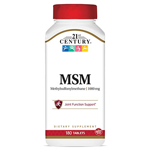 (FROM USA) 21st Century MSM 1000 mg Tablets, 180 Count