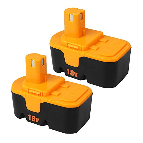 From USA 2Pack 3600mAh for Ryobi 18V Battery Replacement for Ryobi P100 P101 A