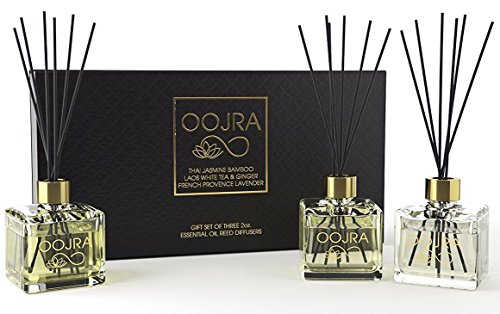 (FROM USA) 3 Reed Diffusers Aromatherapy Essenial Oil Gift Set; Thai Jasmine B