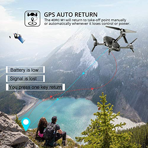 From USA 4DRC M1 Foldable GPS Drone with 4K FHD 5G transmission FPV Camera Liv