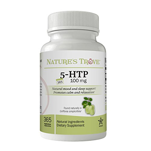(FROM USA) 5-HTP 100 mg Super Value Size - 365 Vegetarian Capsules