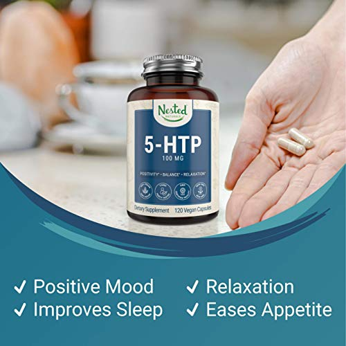 (FROM USA) 5-HTP 100mg Supplement (5-hydroxytryptophan) | Sleep, Relaxation, M