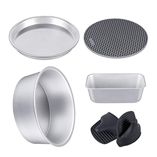 (FROM USA) 5 Set Anodized Aluminum Bakeware Set Accesories Compatible with Nin