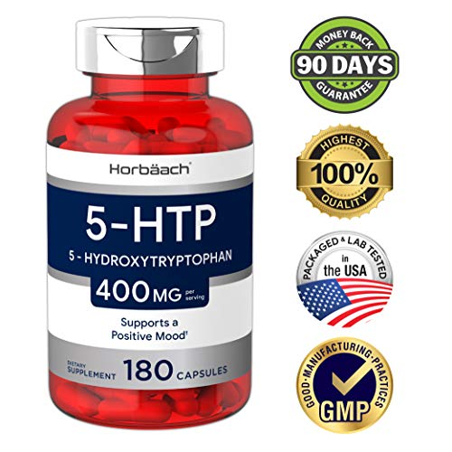 (FROM USA) 5HTP Supplement | 400mg 180 Capsules | 5-HTP Extra Strength| Non-GM
